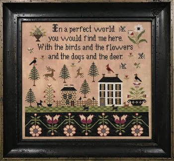 A Perfect World Cross Stitch Pattern | The Scarlett House - Blessed Backyard