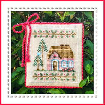 Welcome to the Forest 5 - Pink Forest Cottage and Friends Cross Stitch Pattern - Blessed Backyard