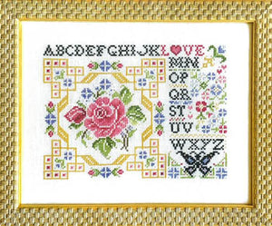Postcard of Love Cross Stitch Pattern | Rosewood Manor - Blessed Backyard