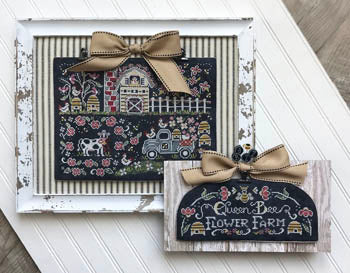 Queen Bee Flower Farm Cross Stitch Pattern | Hands on Design - Blessed Backyard