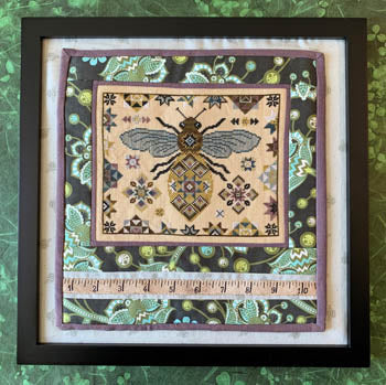 Quilting Bee Cross Stitch Pattern | The Blue Flower - Blessed Backyard
