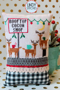 Rooftop Cocoa Shop Cross Stitch Pattern | Lindy Stitches - Blessed Backyard
