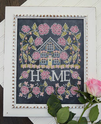 Rose Cottage Cross Stitch Pattern | Hands on Design - Blessed Backyard