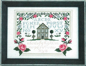 Roses & Bunnies Sampler Cross Stitch Pattern | Tiny Modernist - Blessed Backyard
