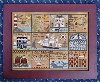 Shores of Hawk Run Hollow Cross Stitch Pattern | Carriage House Samplings - Blessed Backyard