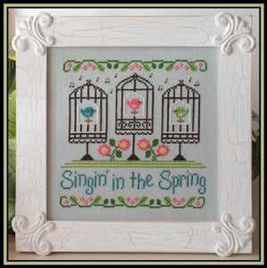 Singin in the Spring Cross Stitch Pattern | Country Cottage Needleworks - Blessed Backyard