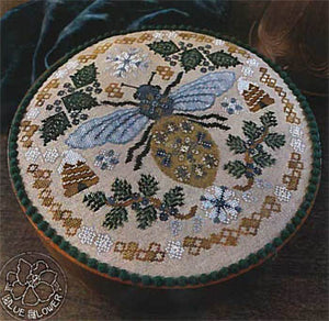 Sleeping Bee Cross Stitch Pattern | The Blue Flower - Blessed Backyard