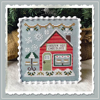 Snow Village 5 - Frozen Hot Chocolate Shop  | Country Cottage Needleworks - Blessed Backyard