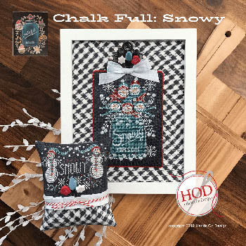 Snowy - Chalk Full Cross Stitch Pattern | Hands on Design - Blessed Backyard