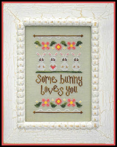 Some Bunny Loves You Cross Stitch Pattern | Country Cottage Needleworks - Blessed Backyard