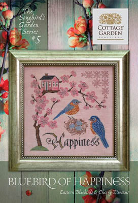 Songbird's Garden Series #5 - Bluebird of Happiness | Cottage Garden Samplings - Blessed Backyard