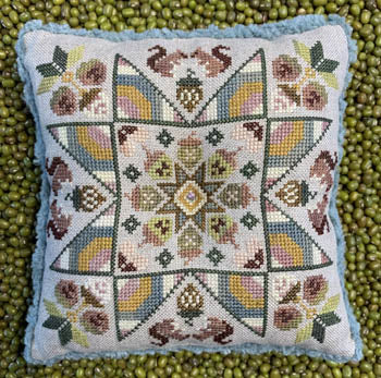 Spring Acorns Cross Stitch Pattern | The Blue Flower - Blessed Backyard