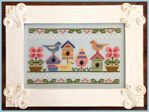 Spring Birds Cross Stitch Pattern | Country Cottage Needleworks - Blessed Backyard