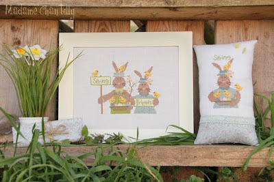 Spring Friends Cross Stitch Pattern | Madame Chantilly - Blessed Backyard