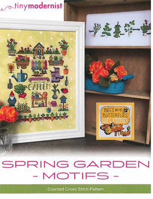 Spring Garden Motifs Cross Stitch Pattern | Tiny Modernist - Blessed Backyard