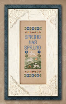Spring Has Sprung Cross Stitch Pattern | Country Cottage Needleworks - Blessed Backyard