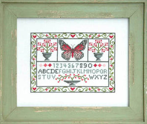 Spring Sampler Cross Stitch Pattern | Tiny Modernist - Blessed Backyard