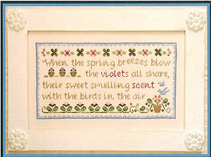 Spring Violets Cross Stitch Pattern | Country Cottage Needleworks - Blessed Backyard