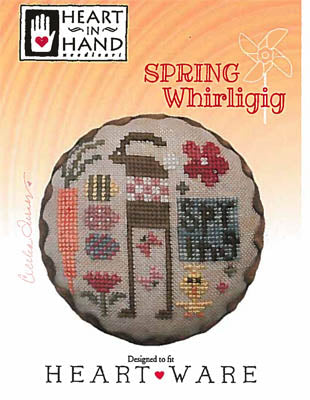 Spring Whirligig Cross Stitch Pattern | Heart in Hand - Blessed Backyard