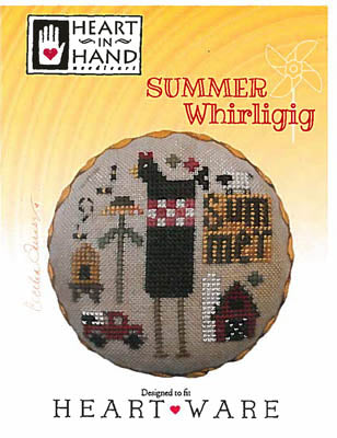 Summer Whirligig Cross Stitch Pattern | Heart in Hand - Blessed Backyard