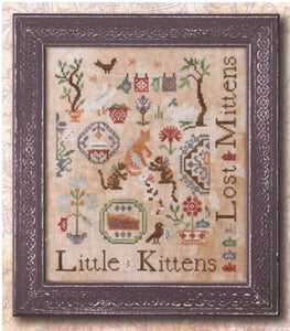 Three Little Kittens Cross Stitch Pattern | Ink Circles - Blessed Backyard