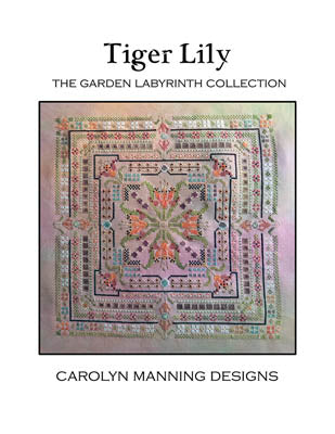 Tiger Lily Cross Stitch Pattern | Carolyn Manning Designs - Blessed Backyard