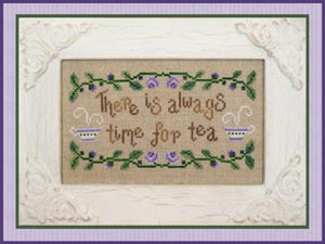 Time for Tea Cross Stitch Pattern | Country Cottage Needleworks - Blessed Backyard