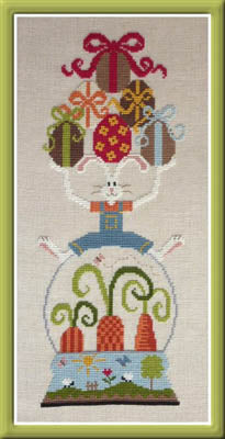 Vivement Paques cross stitch pattern | Jardin Prive - Blessed Backyard