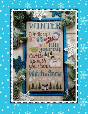 Watch It Snow Cross Stitch Pattern | Waxing Moon Designs - Blessed Backyard