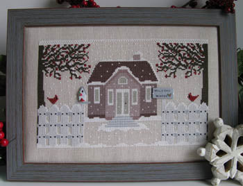 Welcome Winter Cross Stitch Pattern | Puntini Puntini - Blessed Backyard