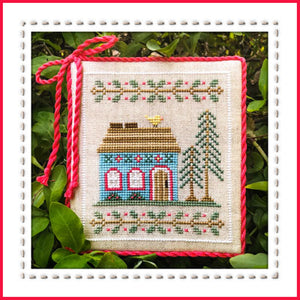 Welcome to the Forest 4 - Blue Forest Cottage Cross Stitch Pattern - Blessed Backyard