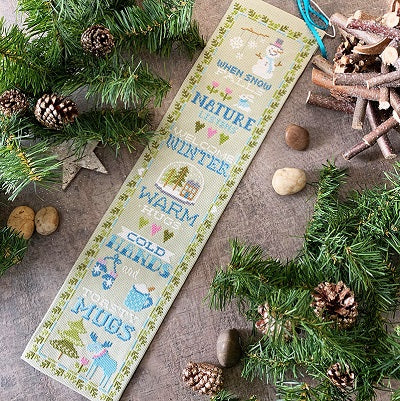 Winter Bell Pull Cross Stitch Pattern | Tiny Modernist - Blessed Backyard