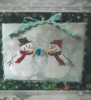 Winter Coffee Cross Stitch Pattern | Romy's Creations - Blessed Backyard