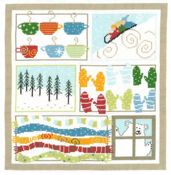 Winter Sampler Cross Stitch Pattern | Imaginating - Blessed Backyard
