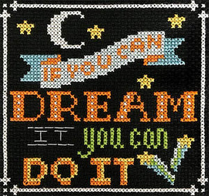 Words to Live By - Part 5: You Can Do It cross stitch pattern - Blessed Backyard
