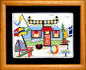 Summer Camper Cross Stitch Pattern | Bobbie G Designs - Blessed Backyard