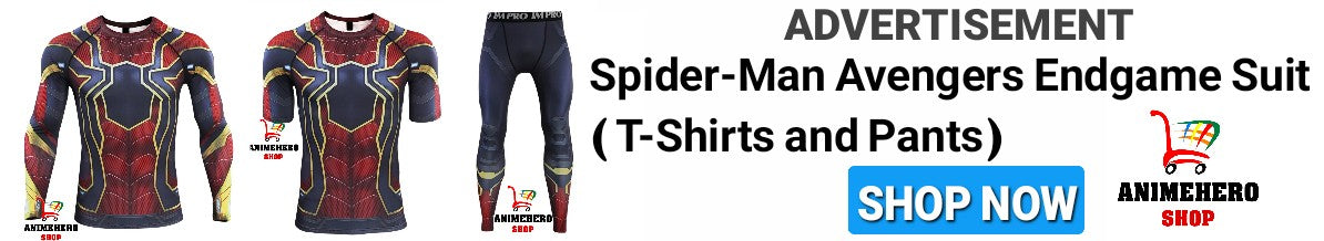 Spider-Man Avengers Endgame T-Shirts and Pants ( Black Friday and Cyber Monday Sale 20% Off )