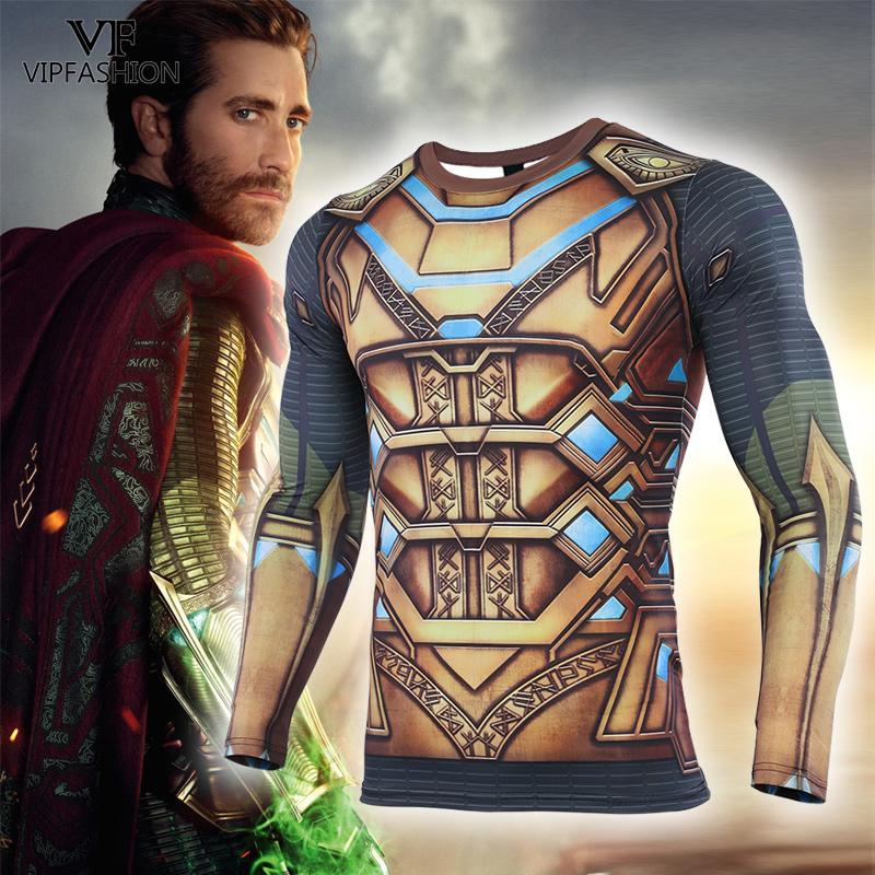 Mysterio - SpiderMan Far From Home Halloween Cosplay 3D Printed Compression T-Shirts - Anime Hero Shop