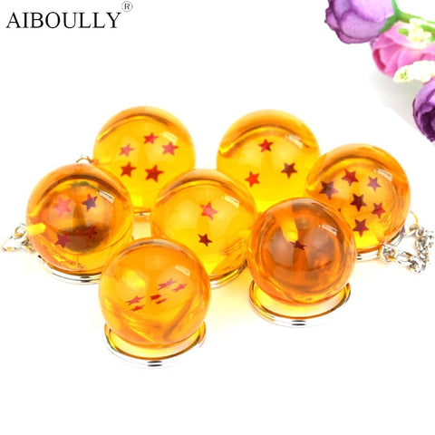 Image of DBZ Stars Crystal Ball Keyrings Pendant - Anime Hero Shop