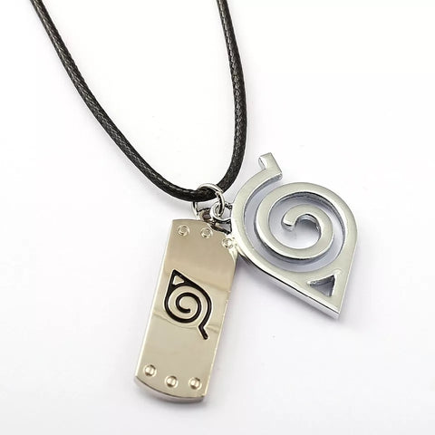 Image of 8 style Naruto necklace with rope - Hokage metal necklace for men/women