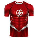 The Flash Barry Allen DC Series 3D Print Compression T-shirts - Anime Hero Shop
