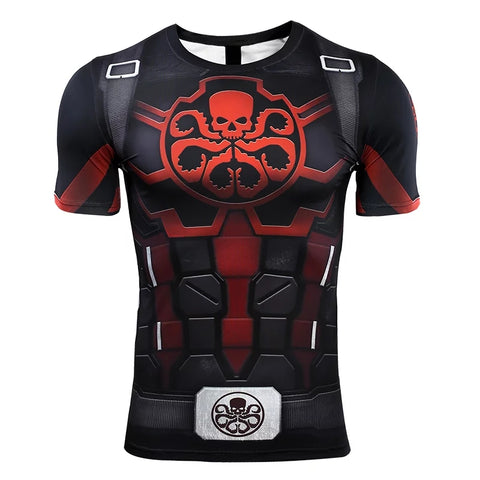 Image of Hydra Captain America Avengers 4 Endgame Quantum War Compression T-shirts - Anime Hero Shop