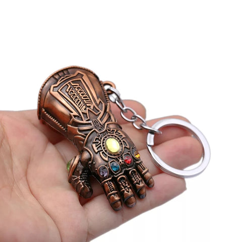 Image of Infinity War Thanos Infinity Gauntlet Gloves Keychain - Anime Hero Shop