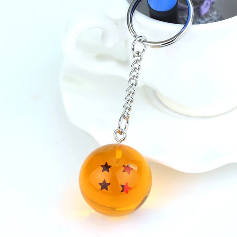 Image of DBZ Stars Crystal Ball Keyrings Pendant