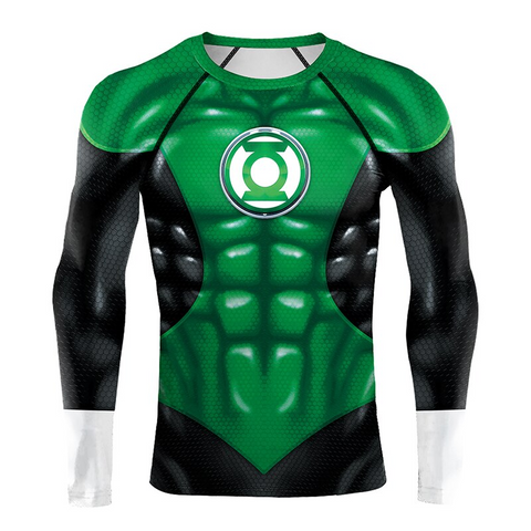 Image of Green Lantern DC Superhero 3D Print Compression T-shirts - Anime Hero Shop