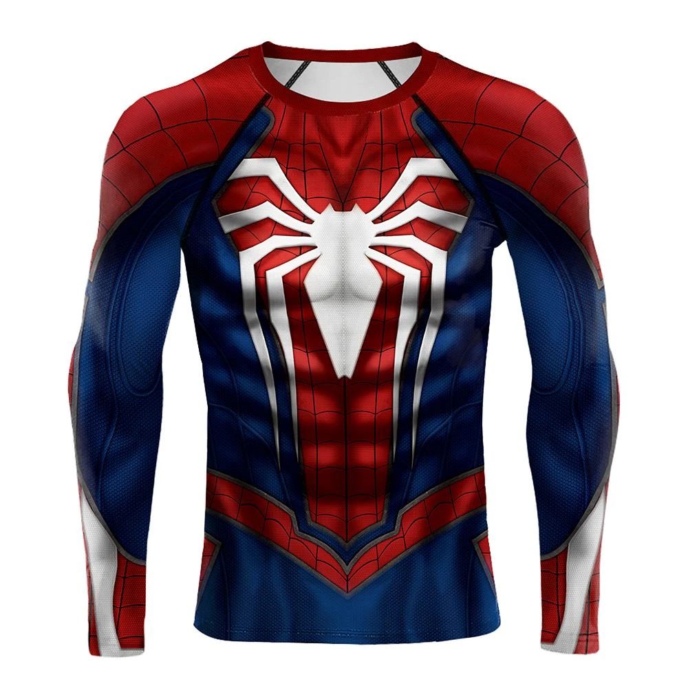 Superhero Spiderman FASHION Compression 3D T-Shirts Sport Cosplay T-Shirts - Anime Hero Shop