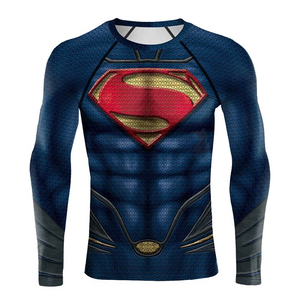Superman Man of Steel DC Superhero 3D Print Compression T-shirts - Anime Hero Shop