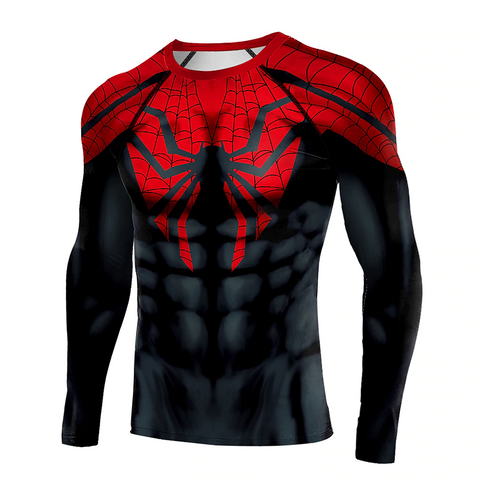 Image of New Black Spider T-shirt 3D Print Superhero Compression Shirt Spider Man T-Shirts - Anime Hero Shop