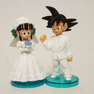 2pcs/set Anime Cartoon Dragon Ball Goku ChiChi Wedding PVC Action Figure 8cm - Anime Hero Shop