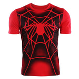 Spider-Man Casual Summer men Shirt Cotton Short Sleeve Shirt